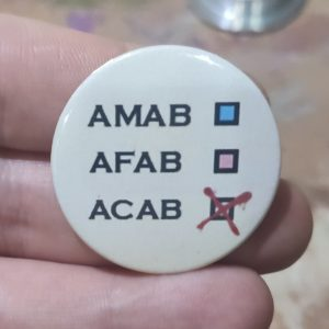 Checkboxes saying AMAB, AFAB, ACAB (red cross in the ACAB box)